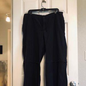 Danskin Black Convertible Pants/Shorts Sz 2XL